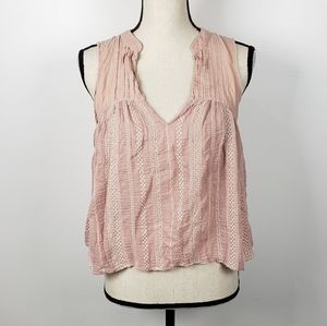 FP One Pink Strike It Open Back Tank Top M